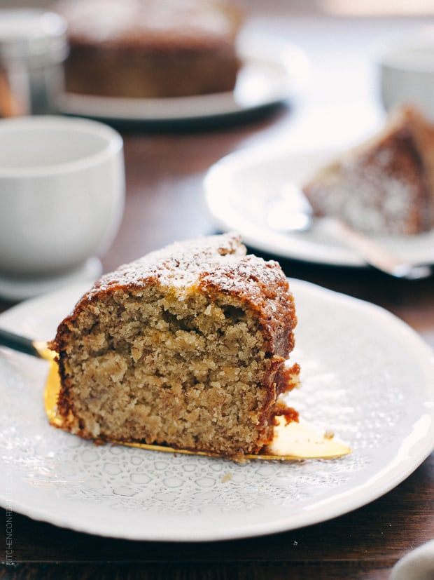 Banana Pineapple Cake | www.kitchenconfidante.com | Full of sweet bananas and pineapple, this cake is perfect with a cup of coffee or tea.