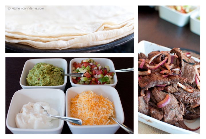 POMegranate-Beer Steak Fajitas