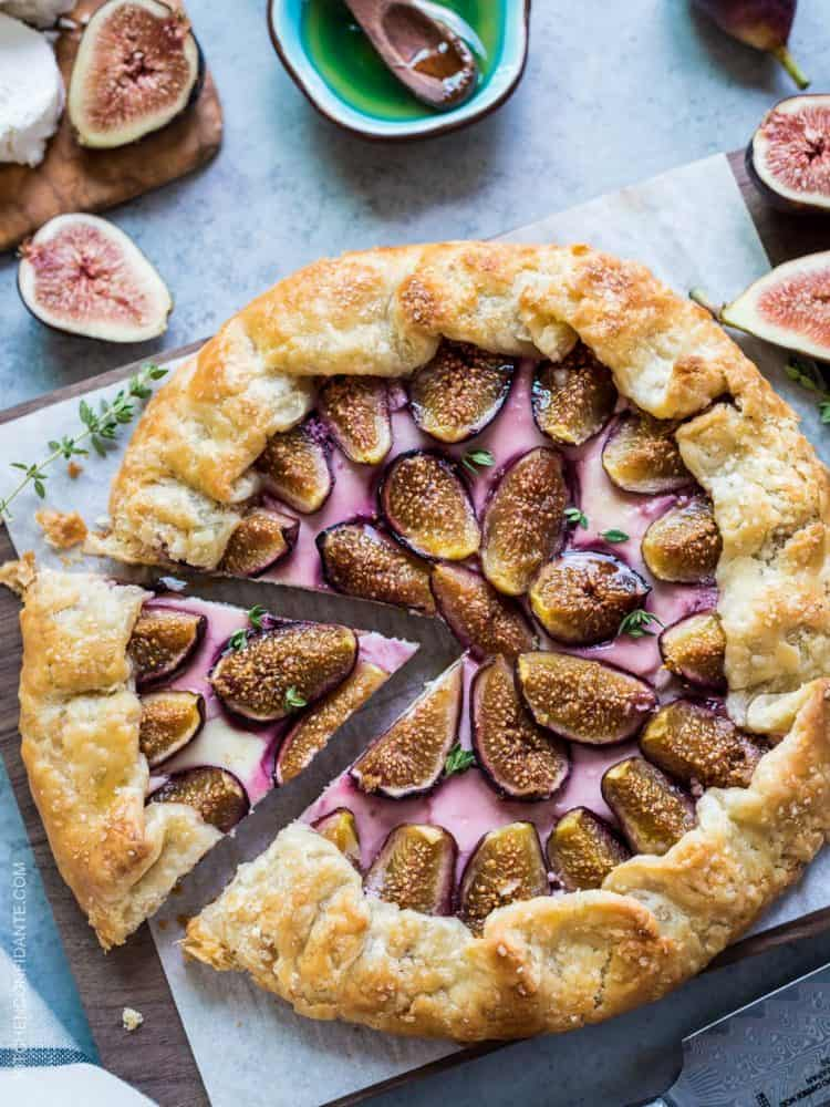 Fig, Honey and Goat Cheese Galette | Kitchen Confidante®