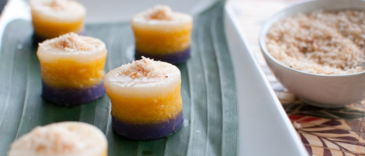 Sapin-sapin is one example of the Philippine's sweet delicacies made with glutenous rice. The literal translation of