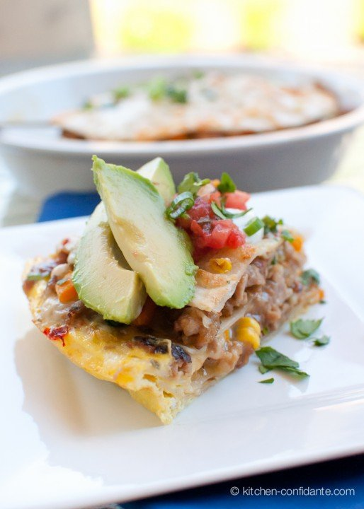 brunch or a filling dinner, this simple, quick Tex-Mex tortilla pie ...