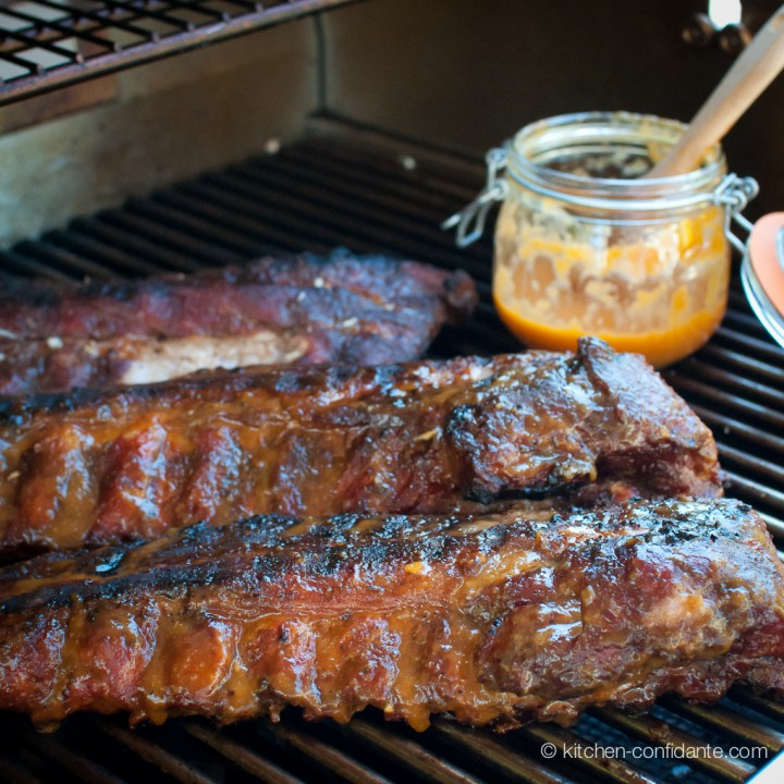 Baby Back Ribs With Fiery Peach Bbq Sauce Print Recipe