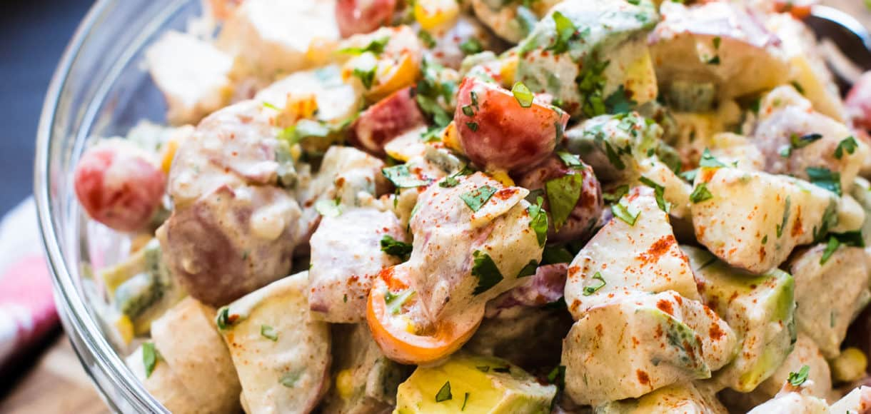 One of my favorite recipes for grilling season is this Southwestern Potato Salad, which comes from the cookbook, Friends at the Table, by my friend, Debi Shawcross. I love the buttermilk dressing, the musky flavor of cumin, and the fresh cuts of hearts of palm.