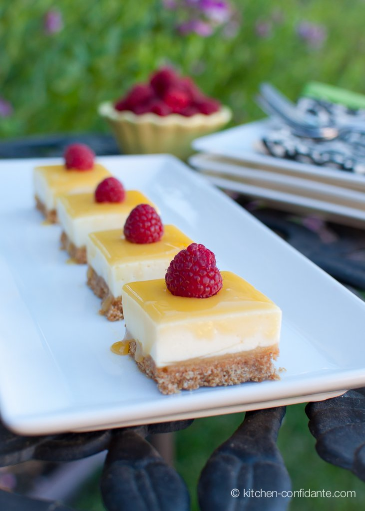 No Bake Lemon Curd Cheesecake Bars