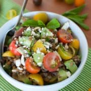 Summer Lentil Salad | Kitchen Confidante | Heirloom Tomatoes