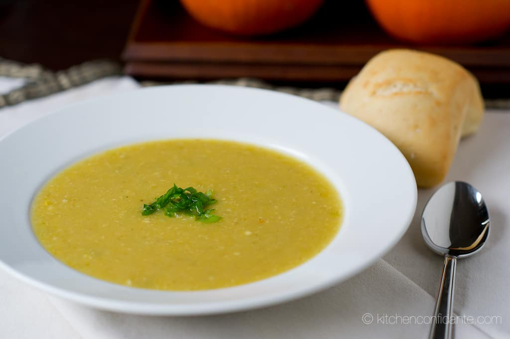 My Roasted Acorn Squash & Corn Soup on Marcus Samuelsson ...
