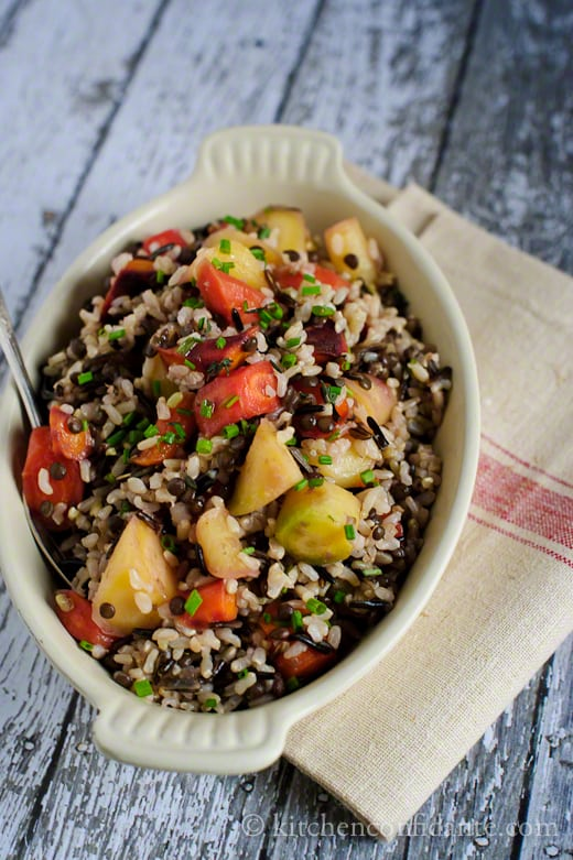 wild and brown rice salad recipes dishmaps wild rice and barley salad ...