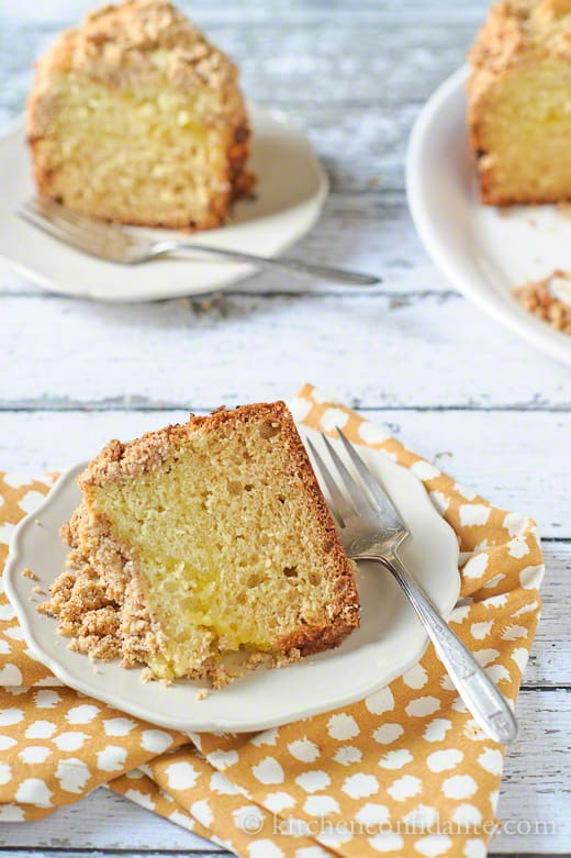 Meyer Lemon Coffee Cake with Almond Streusel | Kitchen Confidante