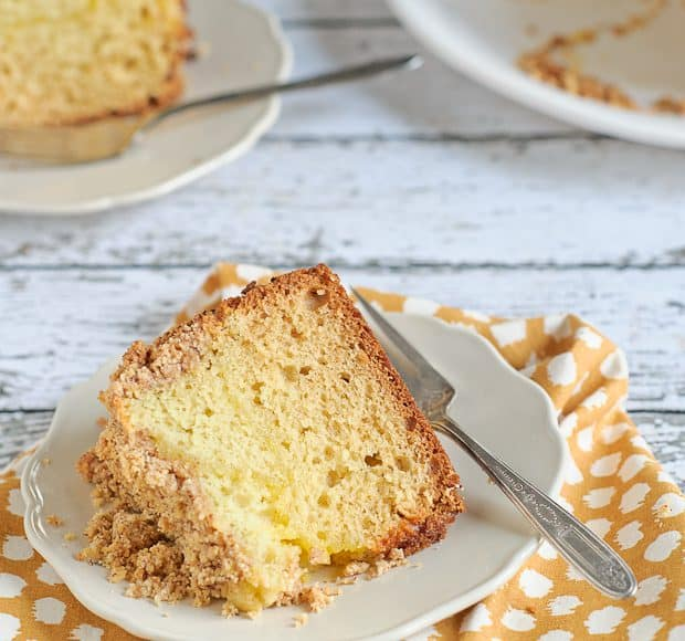 Lemon Coffee Cake with Almond Streusel | Kitchen Confidante | SLIDER