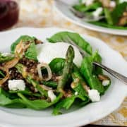 Lentil Spinach Salad | Kitchen Confidante-8
