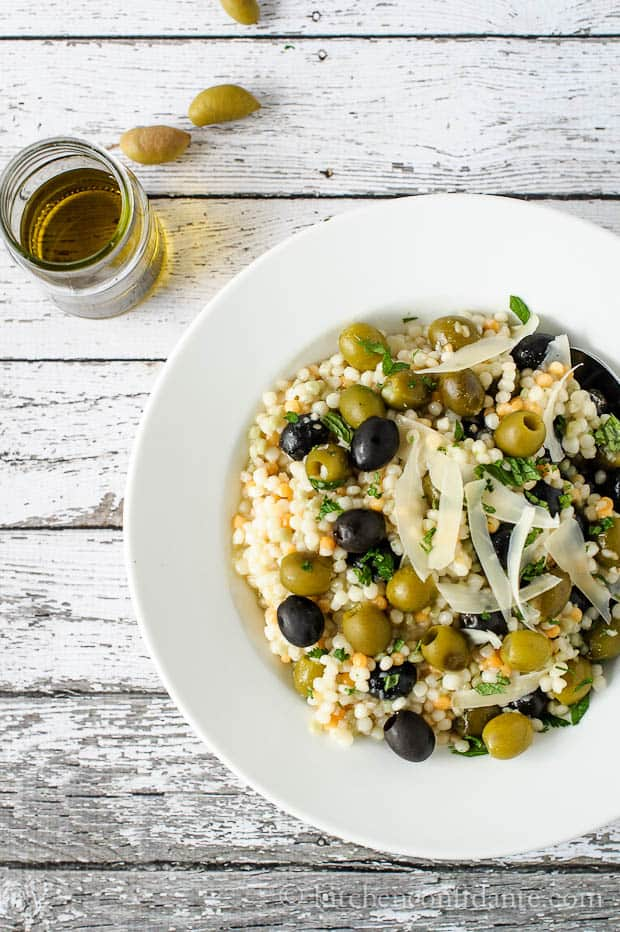 Olive Couscous Salad | Kitchen Confidante-4