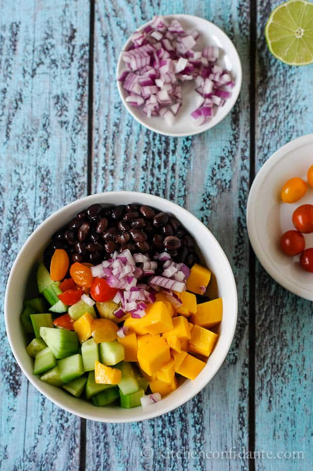 Mango & Black Bean Salad | Kitchen Confidante | Ready to Toss
