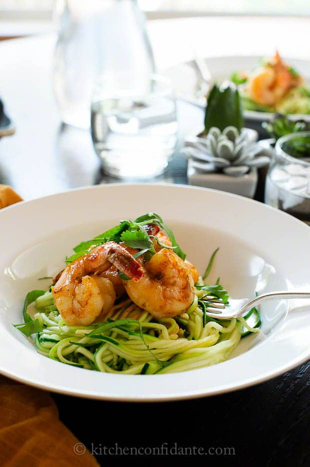 Spicy Shrimp with Zucchini Noodles