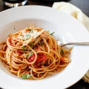 Spaghetti with Fresh Tomato Basil Sauce | Kitchen Confidante