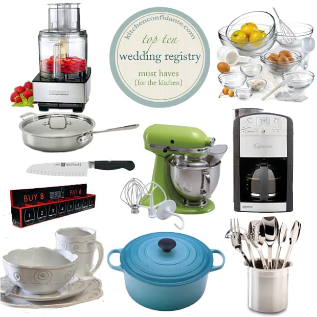 Wedding-Registry-Top-10-Must-Haves Kitchen Confidante