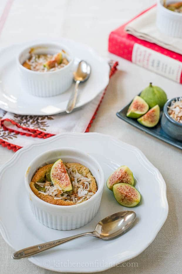 Coconut Fig Clafoutis