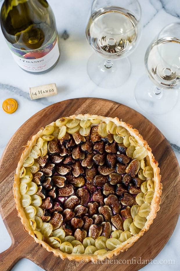Savory Fig and Grape Tart | Kitchen Confidante | Tart Featured