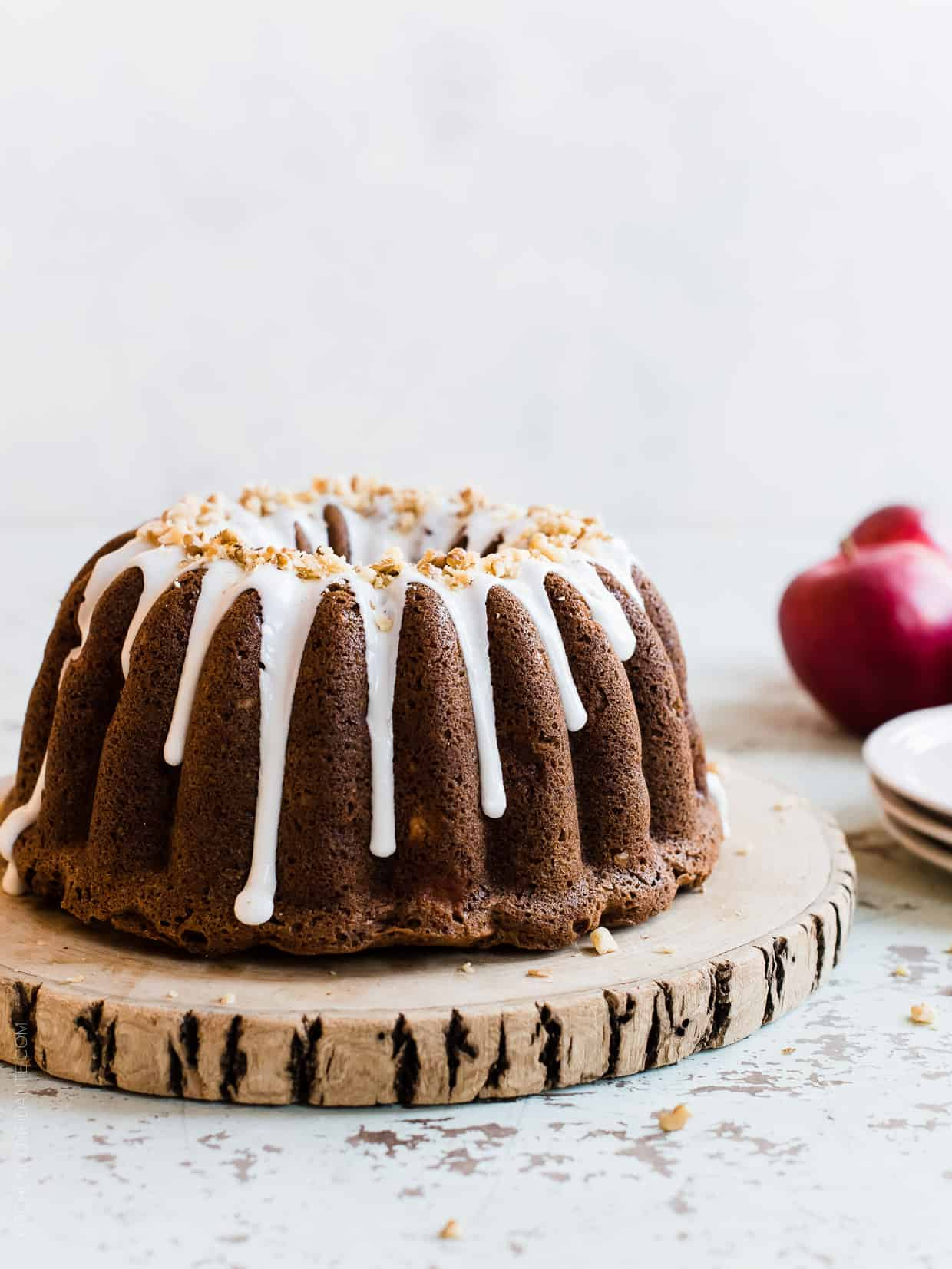 Apple Walnut Delight Cake