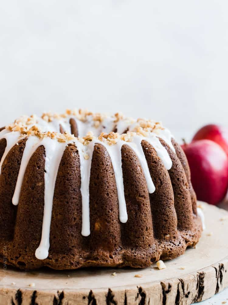 "Apple Walnut Delight Cake. Why is this cake a ""delight?"" One taste of my mother's recipe for this moist cake studded with sweet apples will tell you why."
