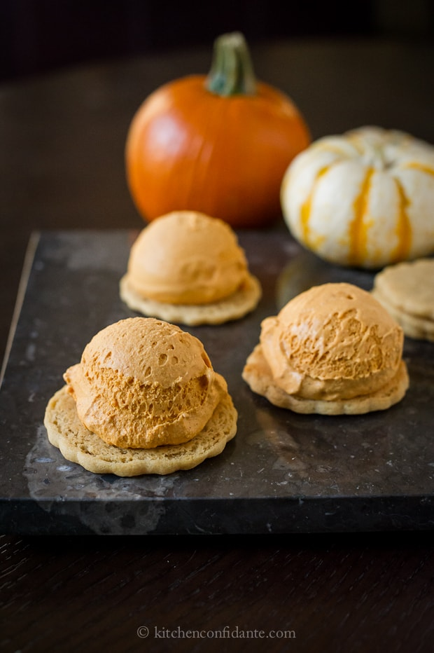 Pumpkin Ice Cream Sandwiches | Kitchen Confidante | Pumpkin Ice Cream