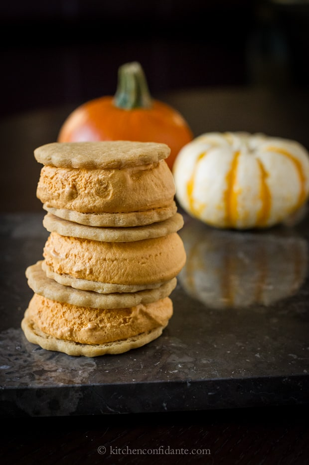 Pumpkin Ice Cream Sandwiches | Kitchen Confidante