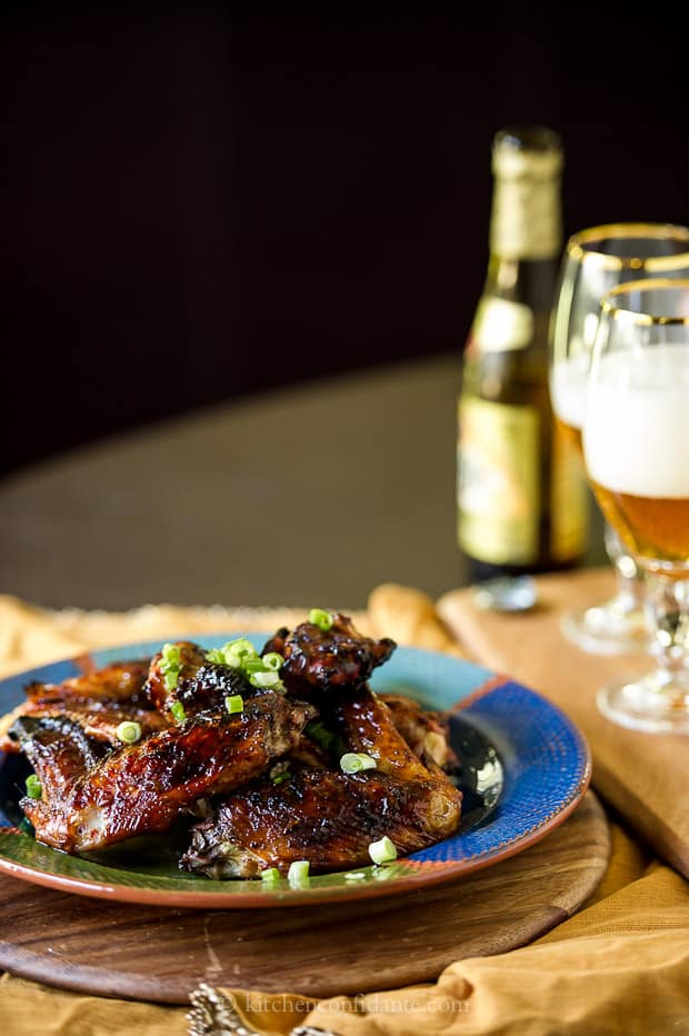 Sticky Garlic Soy Turkey Wings | Kitchen Confidante