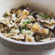 Warm Eggplant & Mushroom Pasta Salad | Kitchen Confidante