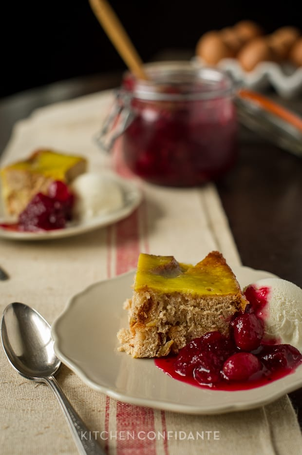 Cinnamon Toast Flan (Bread Pudding) | Kitchen Confidante | With Cranberry Sauce