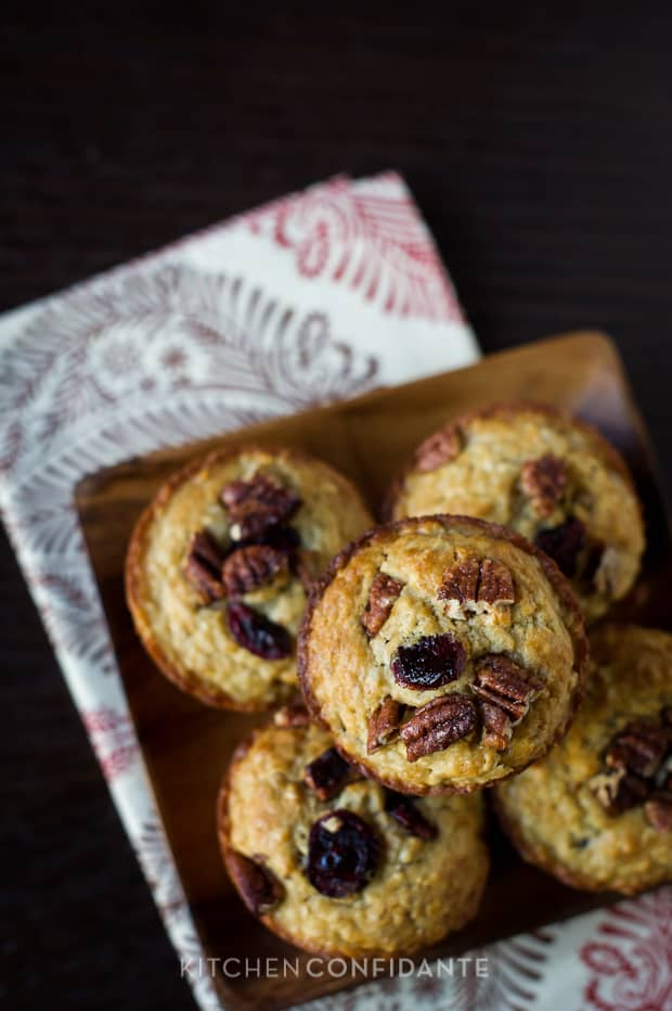 Cranberry Oatmeal Muffins | Kitchen Confidante