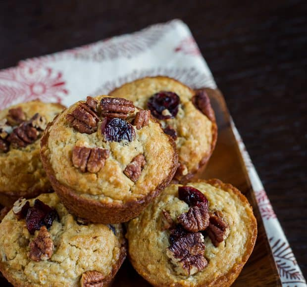 Cranberry Oatmeal Muffins | Kitchen Confidante-2