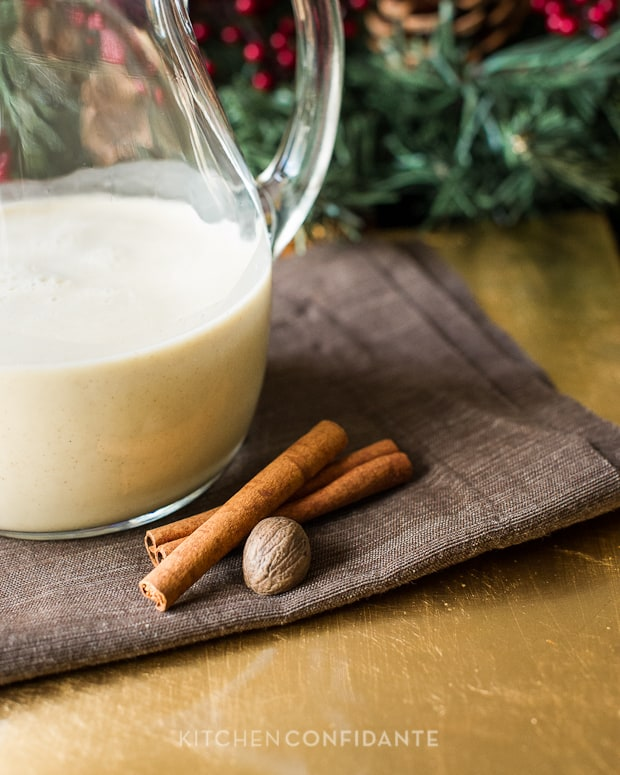 Coconut Hazelnut Eggnog | Kitchen Confidante | Cinnamon &amp; Nutmeg