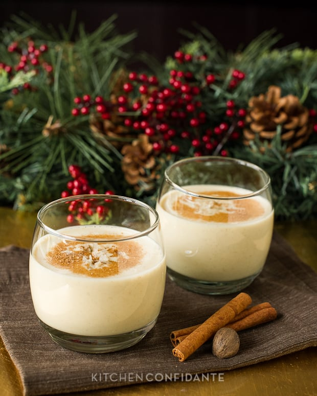 Coconut Hazelnut Eggnog | Kitchen Confidante