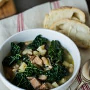 Kale Parsnip &amp; Sausage Soup | Kitchen Confidante