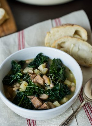 Kale Parsnip & Sausage Soup | Kitchen Confidante