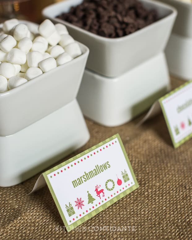 Coconut Cookies - HP Holiday Printables | Kitchen Confidante | Cocoa Bar Details