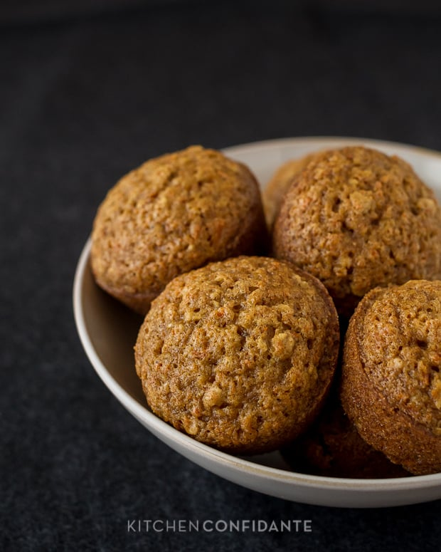 Carrot Oat Muffins | Kitchen Confidante