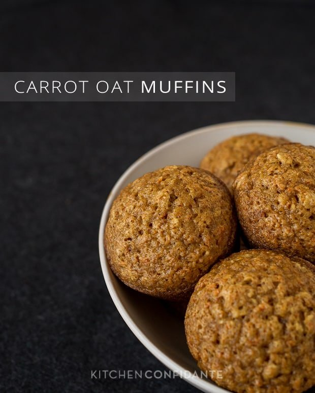 Carrot Oat Muffins | Kitchen Confidante | Carrot Muffins in Bowl