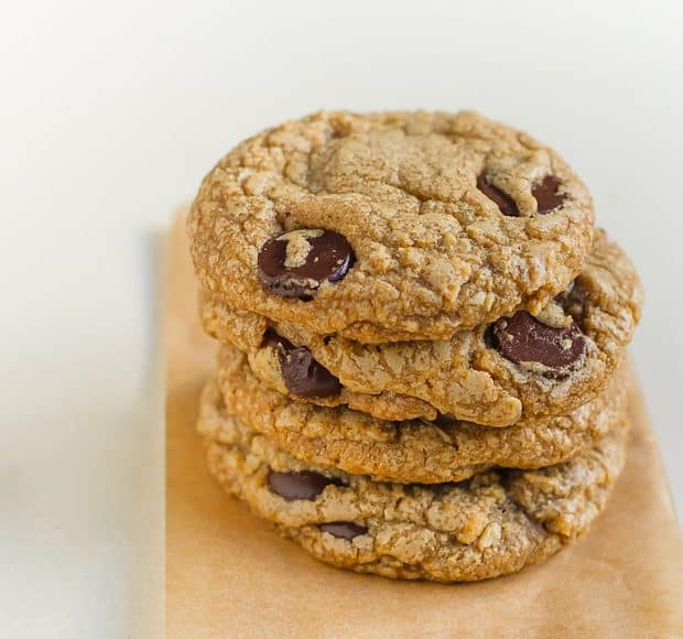 Chocolate Chip Cookie Butter Cookies | Kitchen Confidante | Stacked