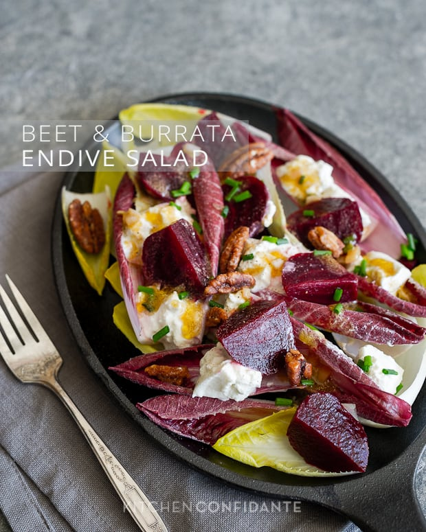 Beet and Burrata Endive Salad | Kitchen Confidante