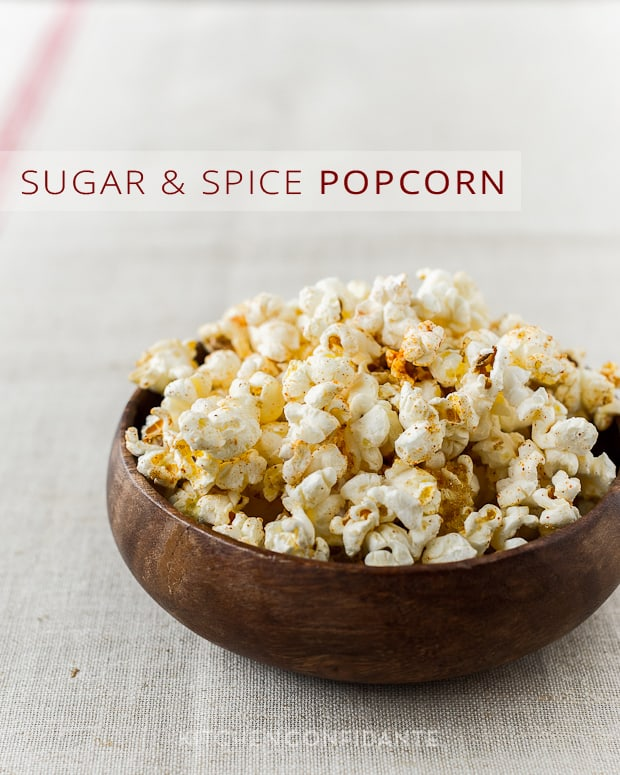 Sugar &amp; Spice Popcorn | Kitchen Confidante | Brown Sugar &amp; Cayenne
