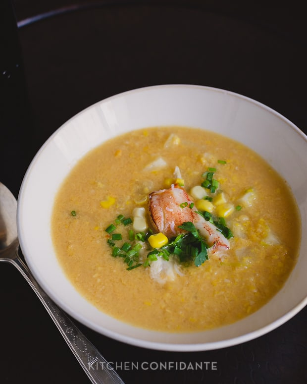 Thai-style Crab and Corn Chowder | Kitchen Confidante