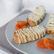 Apricot-White Chocolate Biscotti | Kitchen Confidante | Plated
