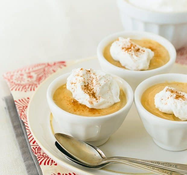 Cognac Butterscotch Pudding | Kitchen Confidante | With Cognac Whipped Cream