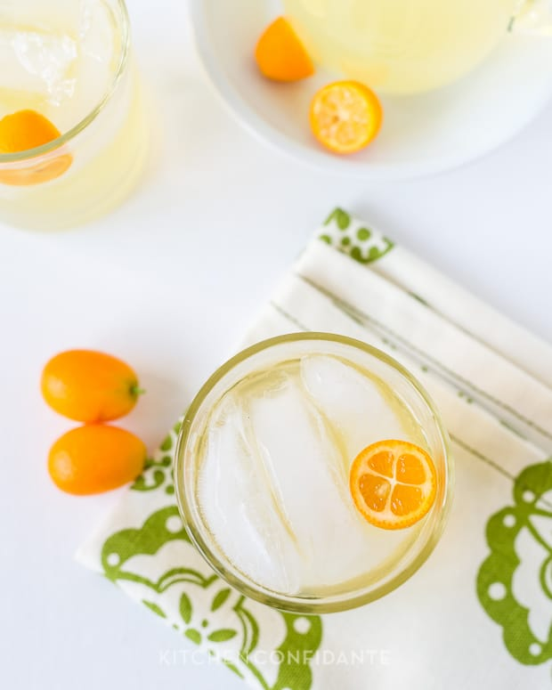 Kumquat Lemongrass Rum Cocktail | Kitchen Confidante | Kumquat Garnish