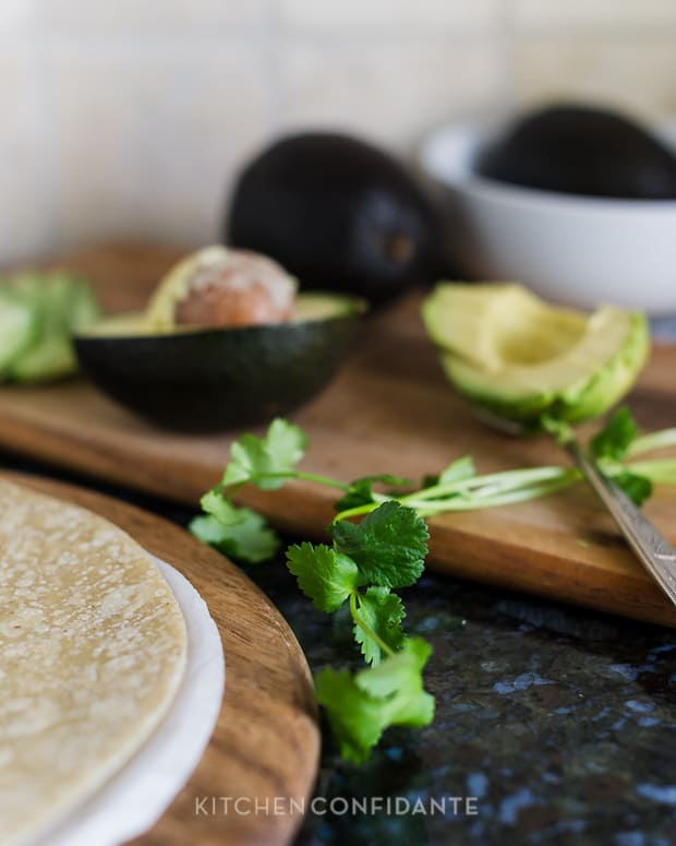 Veggie Wraps | Kitchen Confidante | Cilantro