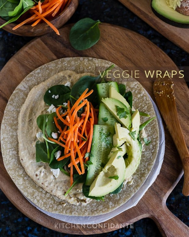 Veggie Wraps | Kitchen Confidante