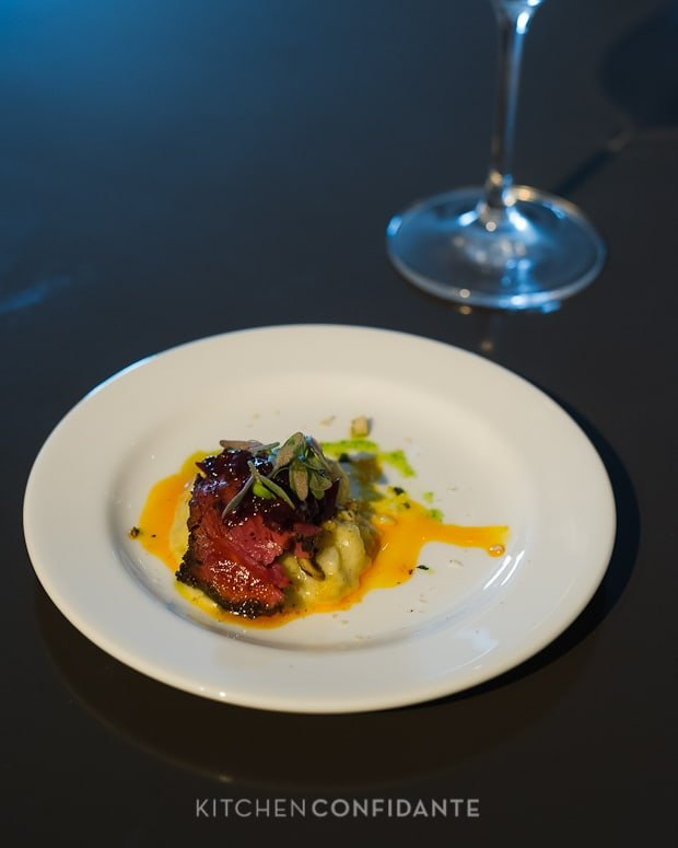 Sixth Annual Pebble Beach Food & Wine, April 2013 | Kitchen Confidante | Slow Smoked Buffalo Tenderloin by Chef Cy Yontz