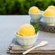 Mango Ginger Sorbet | Kitchen Confidante-2
