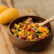Mango Pepper Salsa | Kitchen Confidante | FEATURED