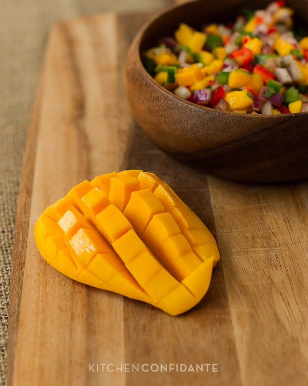 Mango Pepper Salsa | Kitchen Confidante | Sliced Mango